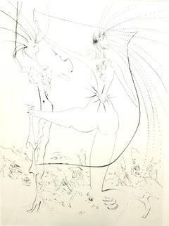 Salvador Dali - Spiky Buttocks - Original Stamp-Signed Etching