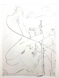 Salvador Dali - Woman with the Crutch - Original Stamp-Signed Etching