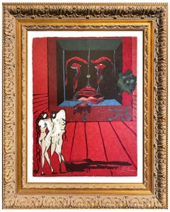 Salvador Dalí * Visions Surrealist Obsession of the Heart * Certified Lithograph