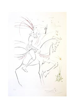 Salvador Dali - Viviane and Lancelot  - Original Handsigned Etching