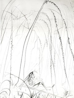 Salvador Dali - Weeping Willow - Original Etching on Silk
