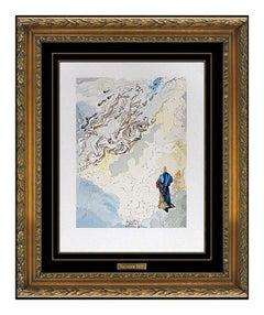 Salvador Dali Wood Engraving Sixth Heaven of Jupiter Divine Comedy Surreal Art