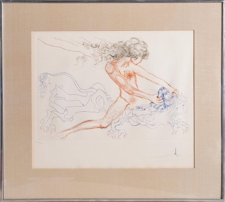 Samson and Delilah from Dali's Famous Lovers Suite - Surrealist Print by Salvador Dalí
