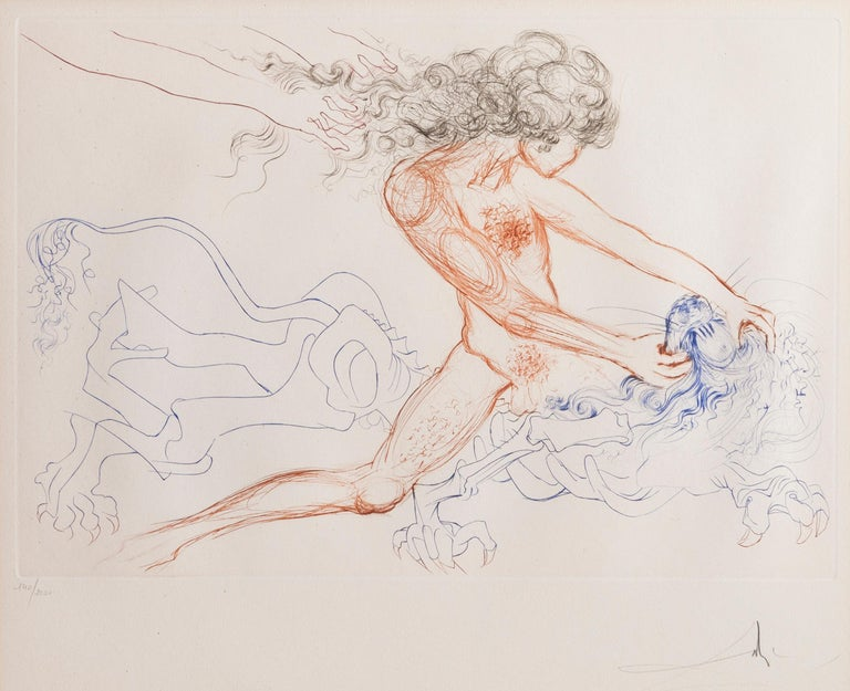 Salvador Dalí Figurative Print - Samson and Delilah from Dali's Famous Lovers Suite