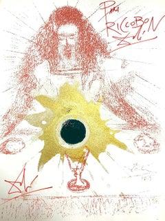 Sanguis Novi testamenti - Original Lithograph hand signed by S. Dalì - 1965