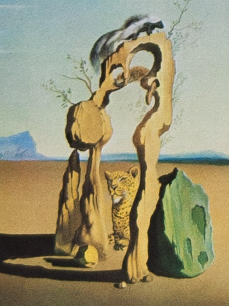 Savage Beasts in the Desert / Little Animal Kingdom color lithograph by Salvador - Print by Salvador Dalí