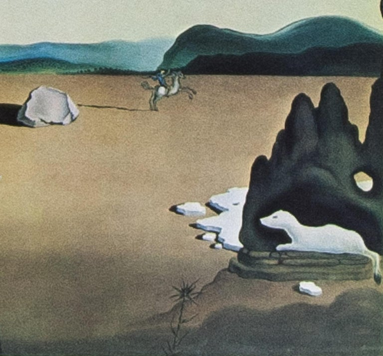 Savage Beasts in the Desert  or Little Animal Kingdom ( Les Betes Sauvages sans Le Desert ) color lithograph by Salvador Dali 1976 published  by Levine 7 Levine printed by Bellini on Arches paper.       Salvador Domingo Felipe Jacinto Dalí i