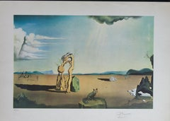 Savage Beasts in the Desert / Little Animal Kingdom color lithograph by Salvador