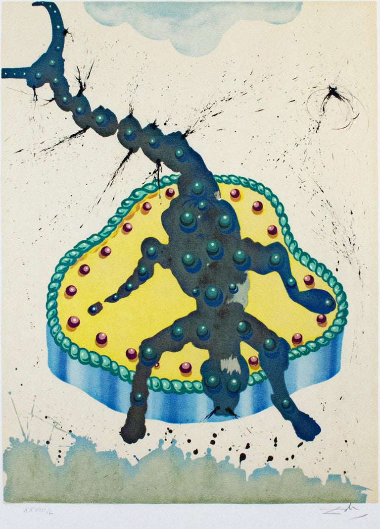 """Salvador Dalí Animal Print - """"Scorpio, from 'Signs of the Zodiac Series',"""" color lithograph by Salvador Dali"""