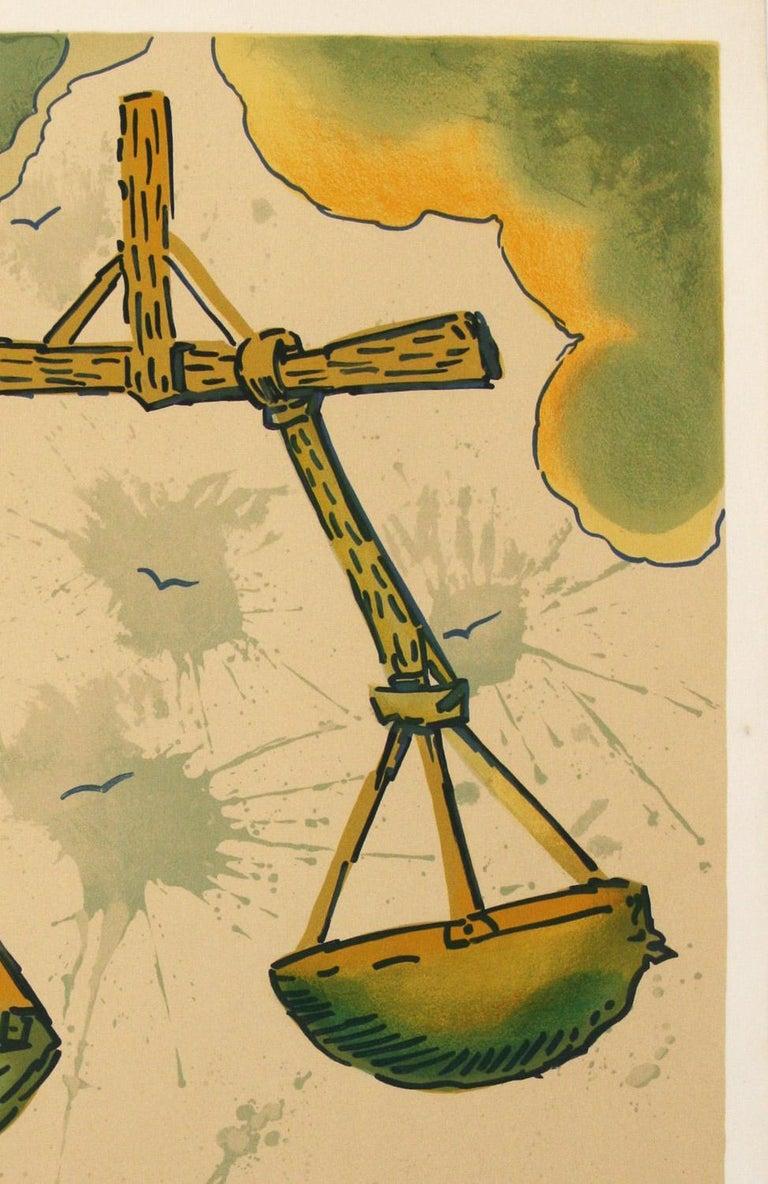 Signs of The Zodiac,  Libra by Salvador Dali - Surrealist Print by Salvador Dalí