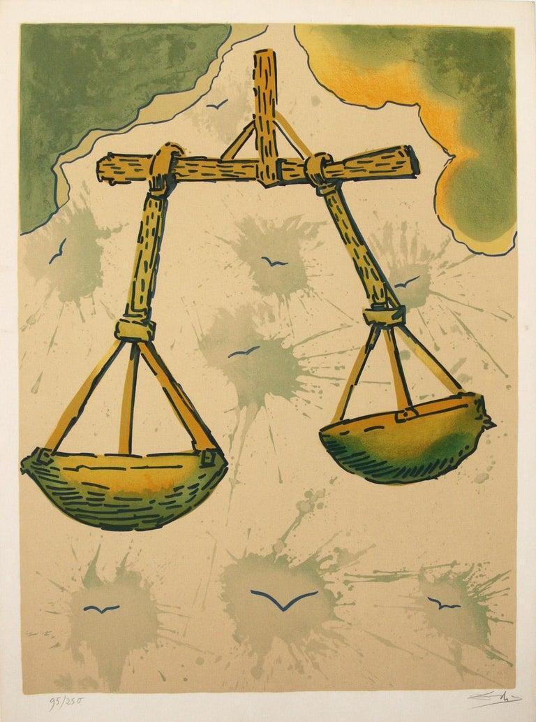 Salvador Dalí Abstract Print - Signs of The Zodiac,  Libra by Salvador Dali