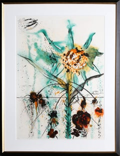 Sun Goddess Flower, Lithograph by Salvador Dali, 1972