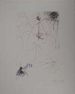 Surrealist Boat (Vaisseau fantome) - Original handsigned etching - (Field #69-7)