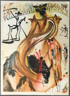 Tauromachie aux Papillons - Original Lithograph by Salvador Dalì - 1970s