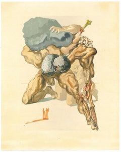 The Avaricious and the Prodigal - Original Woodcut Print by Salvador Dalì - 1963