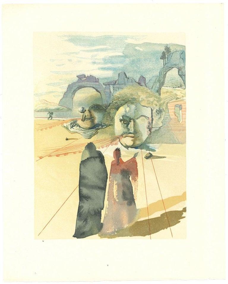 Salvador Dalí Figurative Print - The Avaricious