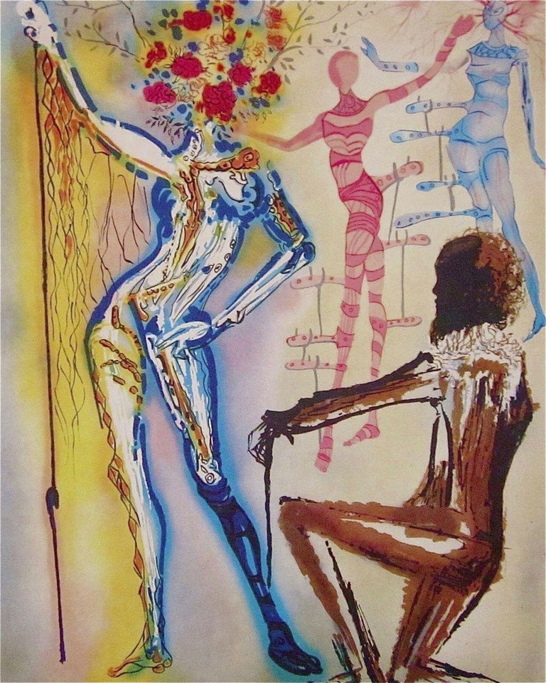 Salvador Dalí Figurative Print - The Ballet of the Flowers