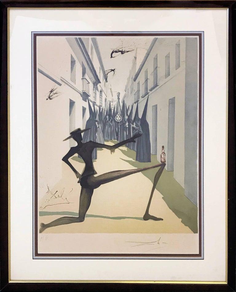 Salvador Dalí Figurative Print - THE BIRD HAS FLOWN