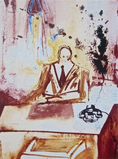 The Businessman, 1989 Limited Edition Lithograph, Salvador Dali - 1st Edition