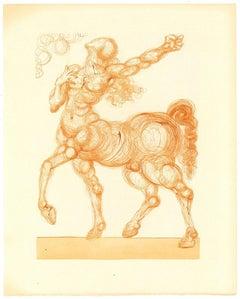 The Centaur - Original Woodcut by Salvador Dalì - 1963