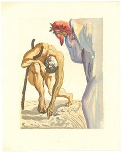 The Climbing - Original Woodcut by Salvador Dalì - 1963