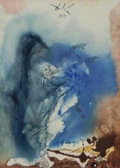 The Creation of Earthly and Sea Animals lithograph Salvador Dali Biblia Sacra