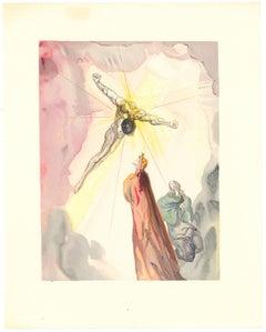 The Cross of Mars - Original Woodcut by Salvador Dalì - 1963