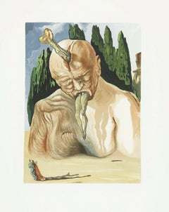 The Divine Comedy (Hell Canto #34), Limited Edition Engraving, Salvador Dali
