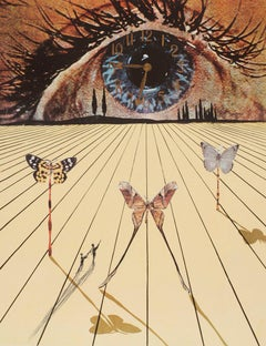 The Eye of Surrealist Time, Etching by Salvador Dali