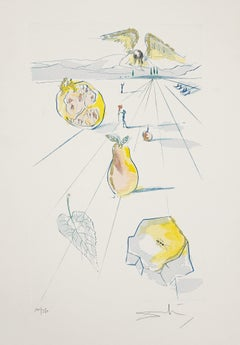 The Fruits of the Valley - Original Etching by Salvador Dalì - 1971