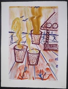 The Girl Who Trod on the Loaf - Original lithograph by Salvador Dalì - 1966