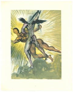 The Guardians of the Valley - Original Woodcut by Salvador Dalì - 1963