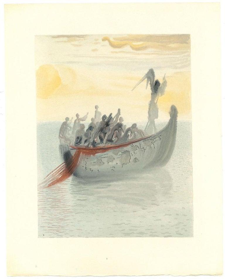 Salvador Dalí Figurative Print - The Guiding Angel