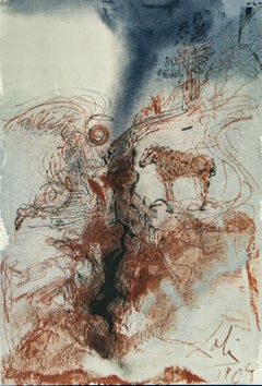 The He-Goats Of The Wild She-Goats On The Face Of The Earth Biblia Sacra by Dali