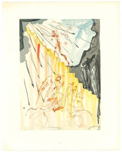 The Heavenly Staircase - Original Woodcut by Salvador Dalì - 1963