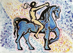 The Horseman - Original Lithograph Handsigned Numbered