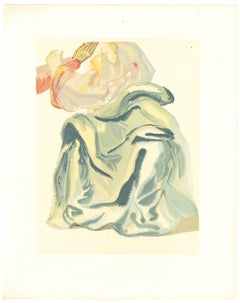 The Infinite Beauty of Beatrice - Original Woodcut by Salvador Dalì - 1963