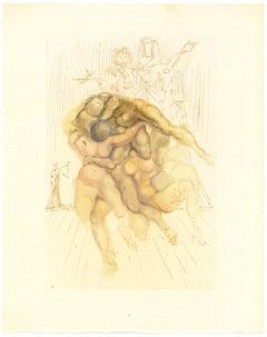 The Irascibile - Original Woodcut Print by Salvador Dalì - 1963