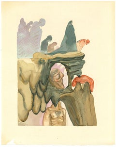 The Liars - Original Woodcut Print by Salvador Dalì - 1963