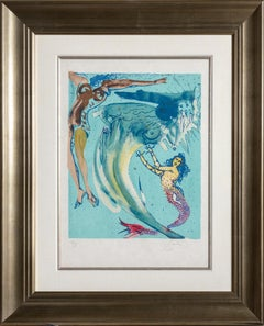 The Little Mermaid, Framed Lithograph by Salvador Dali