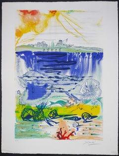 The Little Mermaid II - Original Lithograph by S. Dalì - 1966