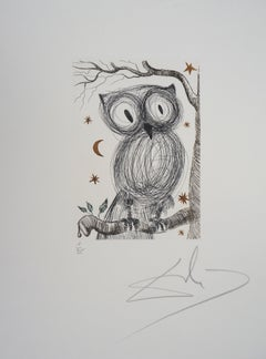 The Little Owl - Original handsigned etching, n° 1/95 (Field #68-9)