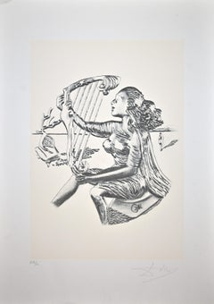 The Music from the series The Arts - Original Lithograph by Salvador Dalì - 1980