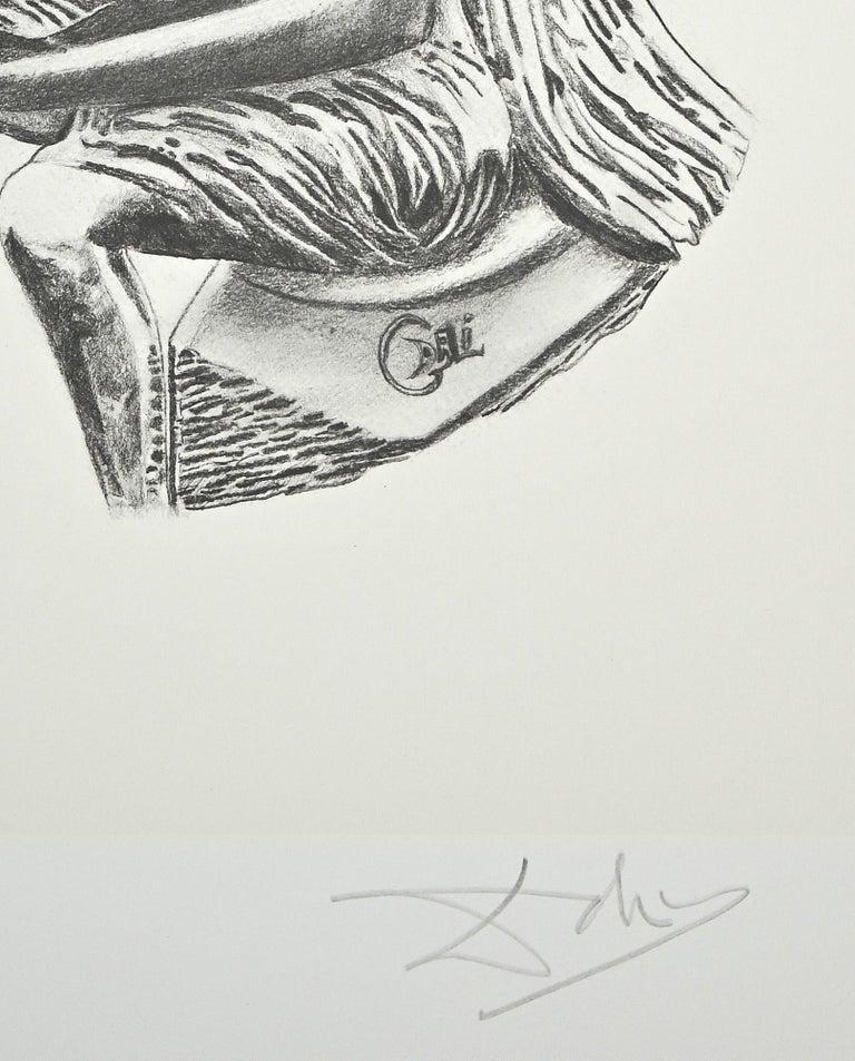 The Music - Original Lithograph by Salvador Dalì - 1980 - Print by Salvador Dalí