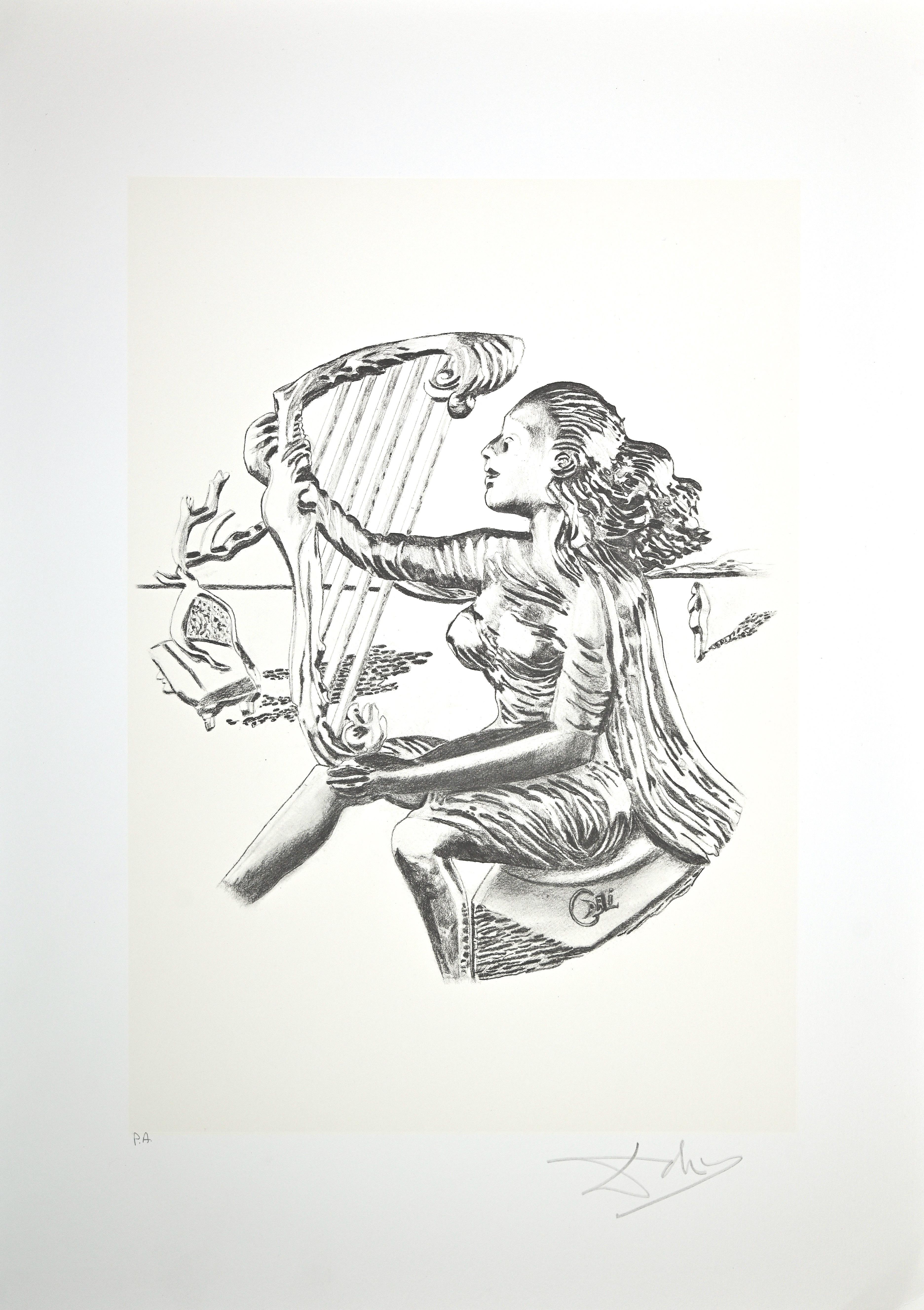 The Music - Original Lithograph by Salvador Dalì - 1980