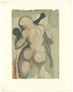 The Neglectful Meets Violent Death - Original Woodcut by Salvador Dalì - 1963