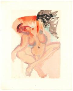 The Neglectful - Original Woodcut Print Salvador Dalì - 1963