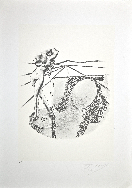 The Painting - Original Lithograph by Salvador Dalì - 1980