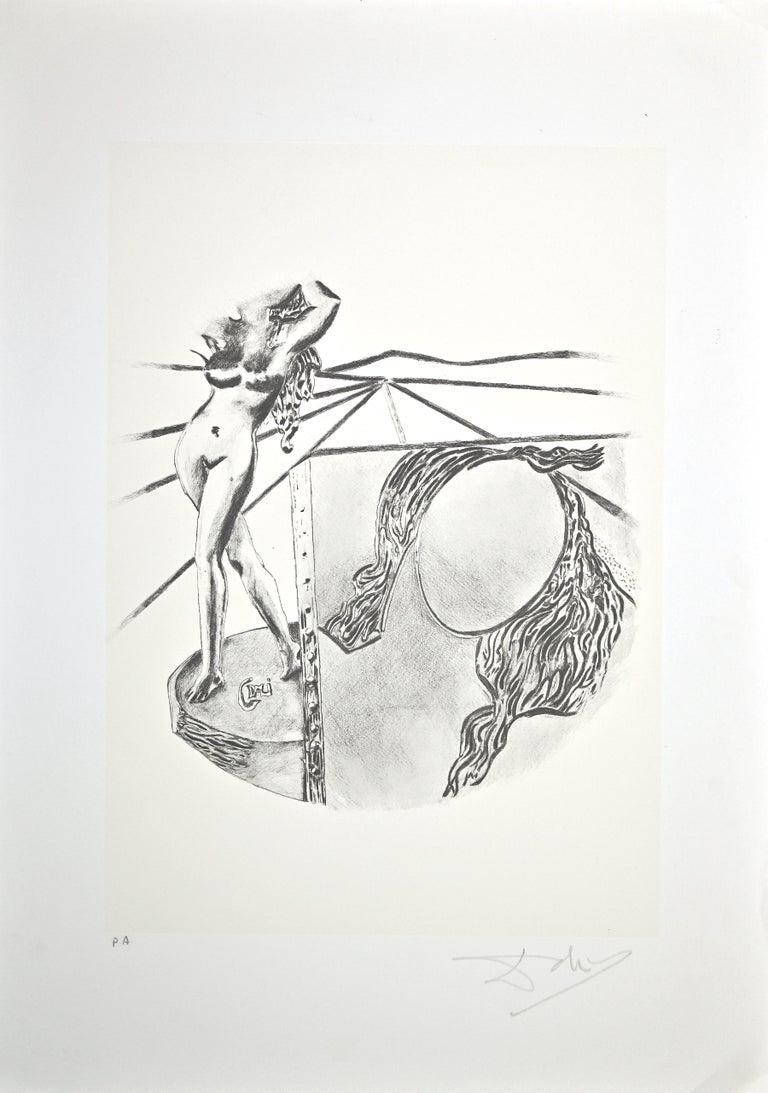 Salvador Dalí Figurative Print - The Painting - Original Lithograph by Salvador Dalì - 1980