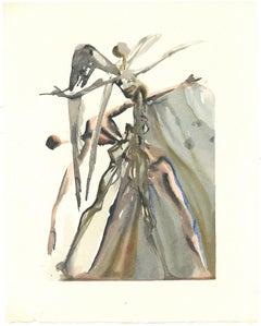 The Powers of Soul - Original Woodcut Print Salvador Dalì - 1963